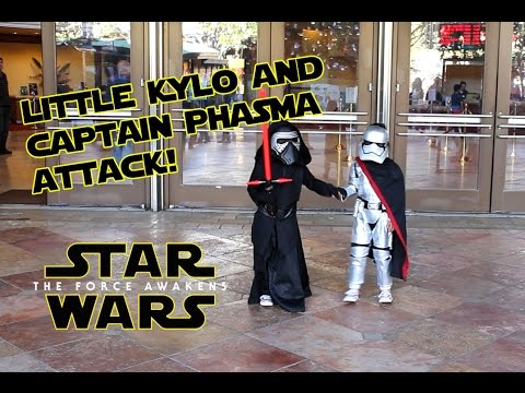 Little Kylo-Ren & Captain Phasma Attack! - Star Wars The Force Awakens