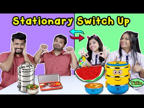 Stationary Switch Up Challenge | Hungry Birds | School Supplies Switch Or Keep Competition