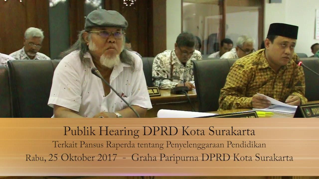 Rabu 25 Oktober 2017 Publik Hearing Raperda Pendidikan