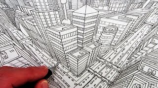 Video How to Draw a City in 3-Point Perspective MP3, 3GP, MP4, WEBM, AVI, FLV Agustus 2018