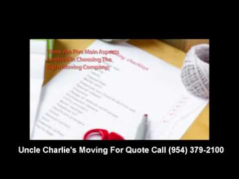 Movers Fort Lauderdale - (954) 379-2100 - Uncle Charlie's Moving
