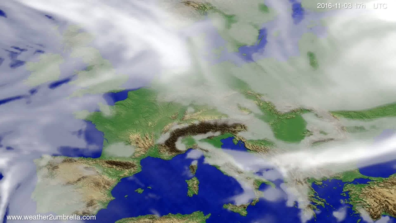 Cloud forecast Europe 2016-11-01