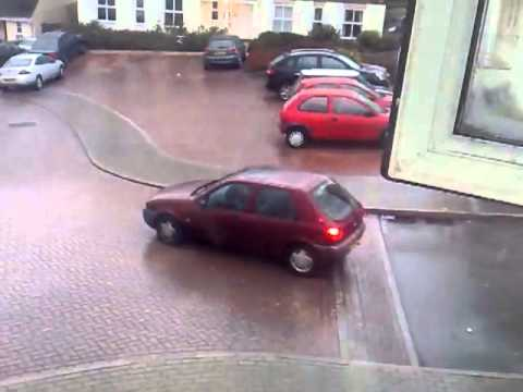 This is how not to drive on icy roads