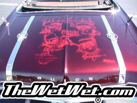 KANDY SLAB - http://thewetwet.net WET WET KANDY MURAL AIRBRUSHED AS A TRIBUTE OF SLAB CULTURE AND of SOUTHERN RAP LEGENDS , PIMP C , BUN B, DJ SCREW, SCARFACE http://allk...