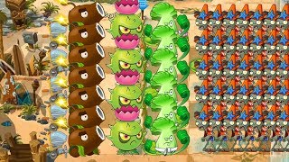 Pvz 2 - Coconut Cannon, Homing thistle and Bonk Choy