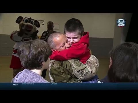 Video: Father Surprises Family