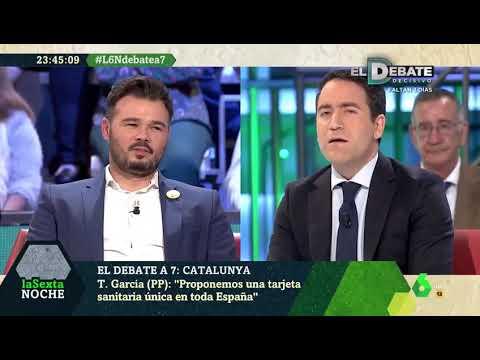 "Teo García Egea entrega una bandera de España a Rufián: ""Esto garantiza tu libertad de expresión"""