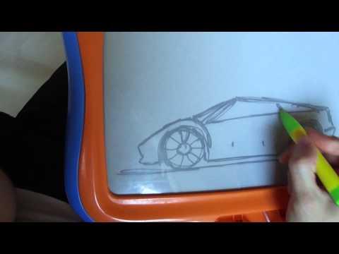 Auto auf der Magnettafel zeichnen