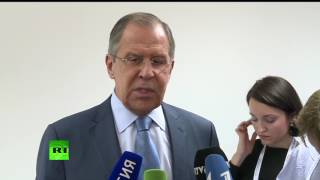 Пресс-подход Сергея Лаврова по итогам переговоров с Тиллерсоном