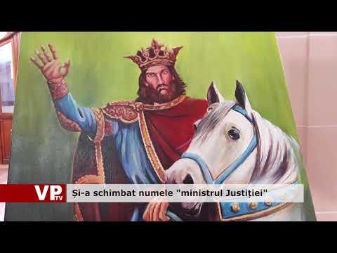 """Și-a schimbat numele """"ministrul Justiției"""""""