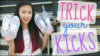 DIY Canvas Sneakers with Fabric Markers | Trick Your Kicks Challenge - YouTube
