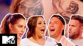 Love Island's Jess Shears Fumes At Her Bad Boob Job Tatt FromDom Lever   Just Tattoo of Us S3 Ep 3