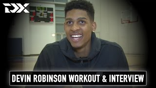 Devin Robinson NBA Pre-Draft Workout and Interview from Chicago