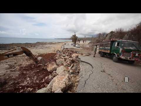 Le MOPC et le MTPTC se fusionnent pour réparer les routes endommagées par matthew
