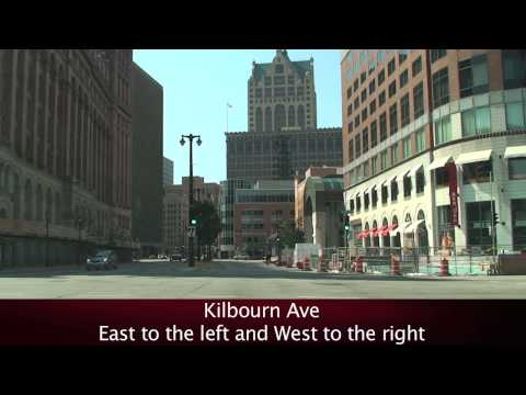 milwaukee - A street tour around downtown Milwaukee.