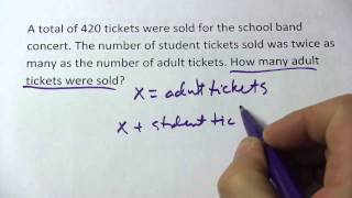 Solving a Word Problem with Two Unknowns Using a Linear Equation