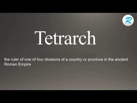 How to pronounce Tetrarch  | Tetrarch  Pronunciation | Pronunciation of Tetrarch