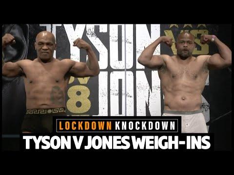 Live weigh-ins: Mike Tyson v Roy Jones Jr