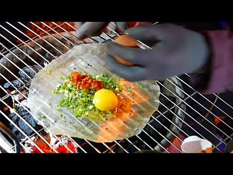 Vietnam Street Food - Vietnamese Pizza / Bánh Tráng Nướng Dalat (видео)