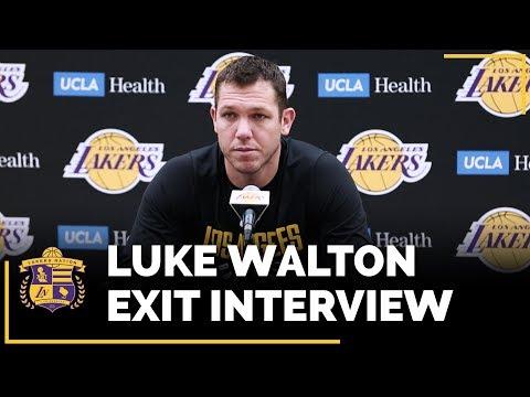 Video: Lakers Exit Interviews 2018: Luke Walton