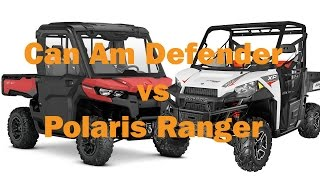 8. Can Am Defender HD10 vs Polaris Ranger XP 900