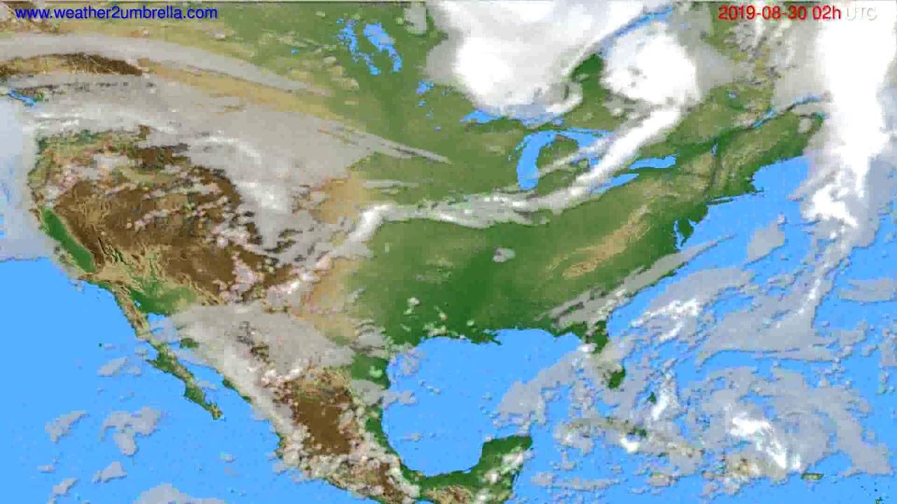 Cloud forecast USA & Canada // modelrun: 12h UTC 2019-08-27