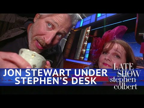 Jon Stewart: Live From Below Stephen's Desk