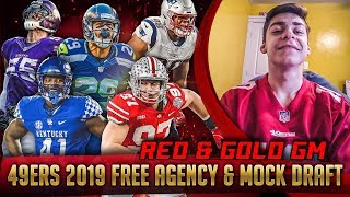 Live! 49ers Free Agency & Mock Draft 2019 - Ronbo Sports Red & Gold GM EP 1