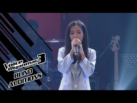 """Pan: """"Oh my beloved father"""" - Blind Auditions - The Voice Myanmar Season 3, 2020"""