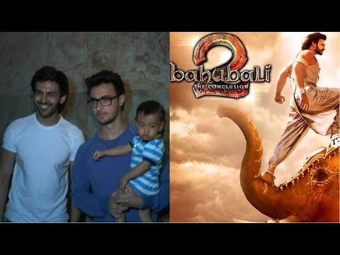Kartik Aaryan | Aayush Sharma At Screening Of Film Baahubali 2: The Conclusion
