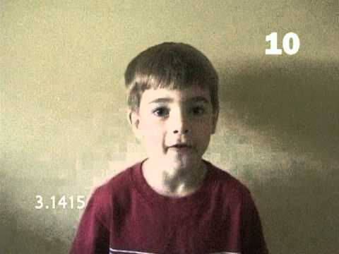 4 Year Old Recites 50 Digits of PI