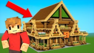 GRIAN!!!!!!!!! - Building a rustic house with grian! GRIAN Tutorial!)