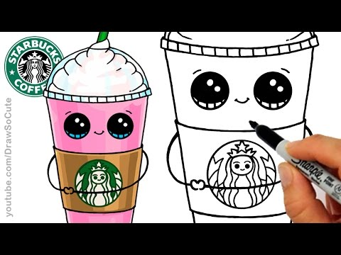 Video How to Draw a Starbucks Frappuccino Cute   Cartoon Drink download in MP3, 3GP, MP4, WEBM, AVI, FLV January 2017
