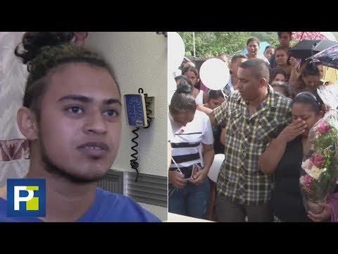 Familiares despiden al joven hondureño que fue diagnosticado con leucemia al llegar a la frontera