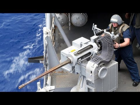 Download Powerful & Devastating Mk 38 Machine Gun [ M242 Bushmaster ] - US Navy Sailors Live Fire