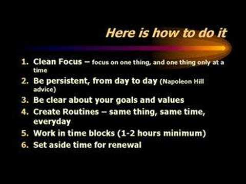 Secrets of effective time management