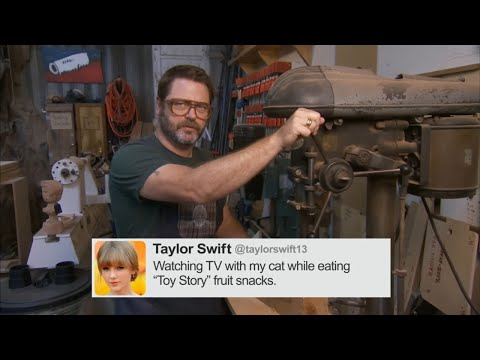 Nick Offerman Reads Tweets From Female Celebrities