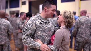 Soldier, Home from Iraq After 6 Months, Reunites with Pregnant Wife