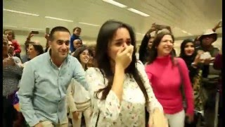 Video Bruno Mars Marry You Flash Mob Proposal Jacob and Eliane - Beirut Rafic Hariri International Airport MP3, 3GP, MP4, WEBM, AVI, FLV Februari 2018
