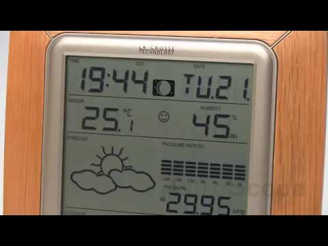 Видео Домашняя метеостанция Technoline(La Crosse) WS9057 в рамке, цвет алюминий