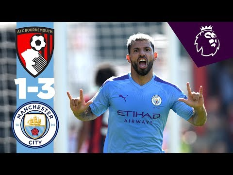 Video: HIGHLIGHTS | Bournemouth 1-3 Man City | Aguero, Sterling, Wilson.
