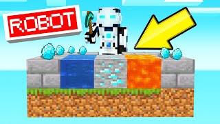 Video I Built A ROBOT To AUTO-MINE In SKYBLOCK! (Minecraft) MP3, 3GP, MP4, WEBM, AVI, FLV September 2019