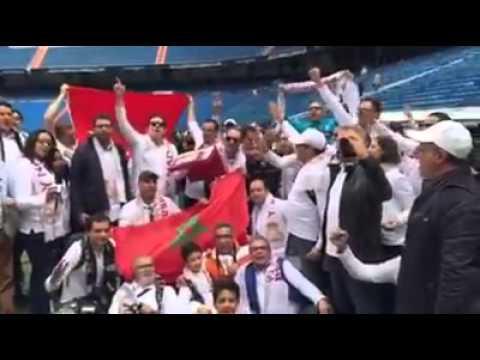 النشيد الوطني المغربي على أرضية البيرنابيو