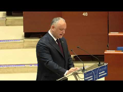 Игорь Додон выступил с речью на очередном заседании Парламентской Ассамблеи Совета Европы