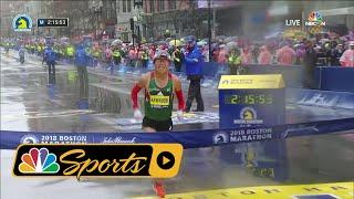 Video 2018 Boston Marathon: Japan's Yuki Kawauchi wins men's race I NBC Sports MP3, 3GP, MP4, WEBM, AVI, FLV Juli 2018