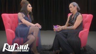 The Pit Stop w/ Raja & Alaska | RuPaul's Drag Race (Season 9 Ep 1) | Logo| Now on VH1