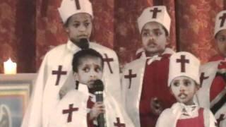 kids singing in Ethiopian Orthodox church, Oakland, CA 2010 #1