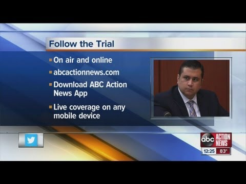 Mobile Device - Zimmerman trial down to 40 potential jurors - watch live on your mobile device.