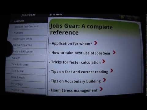 Video of Jobs Gear -Aptitude Verbal MCQ