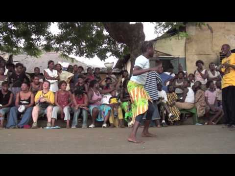"#7 ""African Dance"":  Dununba Community drum and dance party: Great young dancer!"